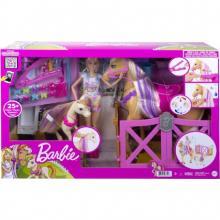 Barbie com Cavalo - Penteados Divertidos - GXV77 Mattel