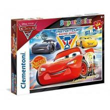 Puzzle Cars 3 Supercolor - 27072 - Clementoni