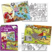 Puzzle 2x48 Peter Pan e o Flautista Diset