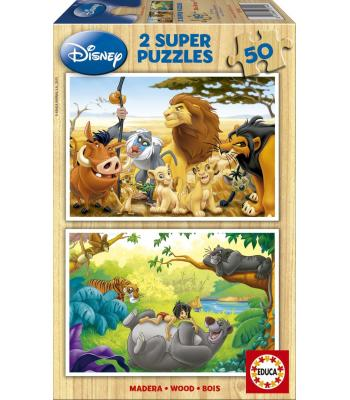 Puzzle 2x50 Animal Friends 13144