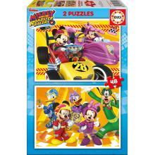EDUCA Puzzle 2x48 Mickey e os Superpilotos - 17239