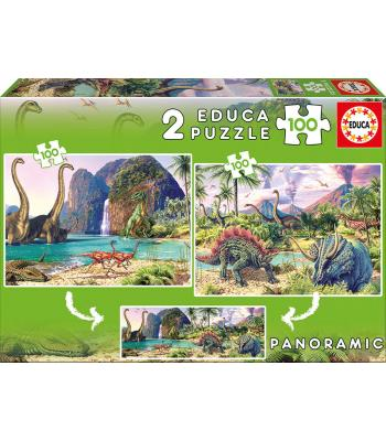 EDUCA Puzzle 2x100 Dino World - 15620