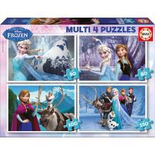 EDUCA Multi 4 puzzles Frozen - 16173