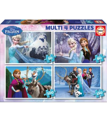EDUCA Multi 4 puzzles Frozen - 16173