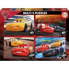 EDUCA Multi 4 puzzles Cars 3 - 17179