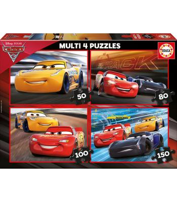 EDUCA Multi 4 puzzles Cars 3  - 17179