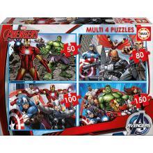 EDUCA Multi 4 puzzles Avengers - 16331