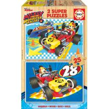 Educa Puzzle 2x25 Mickey e os Superpilotos - 17234