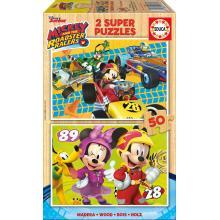 Educa Puzzle 2x50 Mickey e os Superpilotos - 17236