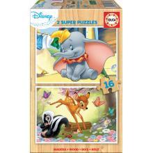 EDUCA Puzzle 2x16 Animais Disney - 18079