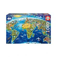 EDUCA Puzzle miniatura - Símbolos do Mundo - 19036